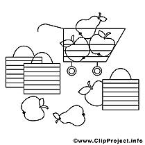 Supermarché image à télécharger – Divers à colorier