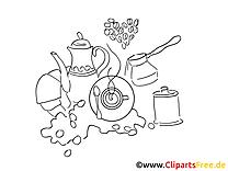 Thé dessins gratuits – Divers à colorier