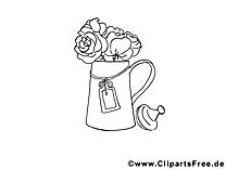 Vase image gratuite – Divers à colorier