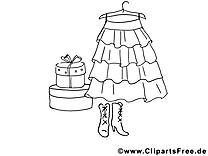 Vêtement femme clip art gratuit – Divers à colorier