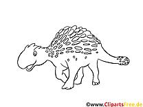 Clip art dinosaures image à colorier