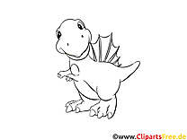 Coloriage dinosaures illustration à télécharger