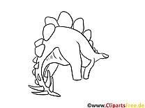 Stégosaure image à télécharger – Dinosaures à colorier