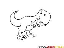 T-rex dessin – Coloriage dinosaures à télécharger