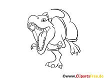 T-rex illustration – Dinosaures à imprimer