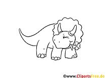 Tricératops clip art gratuit – Dinosaures à imprimer
