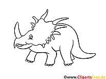 Tricératops dessin – Dinosaures gratuits à imprimer