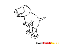 Tyrannosaure illustration – Dinosaures à colorier