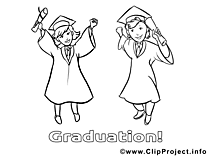 Bacheliers illustration – École à colorier