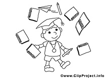 Classe dessins gratuits – École à colorier