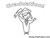 Clip art gratuit diplômé – École à colorier