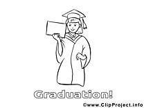 Clip arts diplômée – École à imprimer