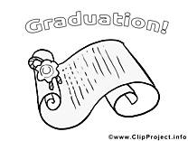 Dessin gratuit diplôme – École à colorier