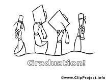 Diplômés clip art – École image à colorier