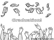 Diplômés dessin – Coloriage école à télécharger