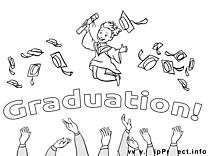 Diplômés illustration – École à colorier