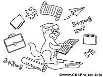 Écureuil clip art gratuit – École à colorier