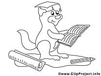 Écureuil clipart gratuit – École à colorier
