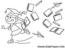Fille clip arts – École à imprimer