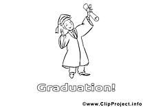 Illustration diplômé – École gratuits à imprimer