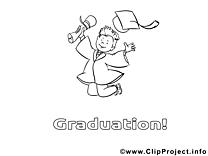 Illustration élève sortant – École à imprimer
