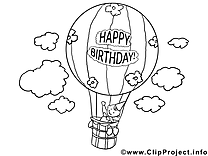 Air ballon clipart à imprimer dessins gratuits