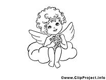 Ange coloriage dessins gratuits