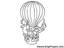 Ballon coloriage clip art gratuit