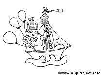 Bateau image à colorier images cliparts