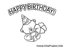 Bon anniversaire dessin à imprimer images
