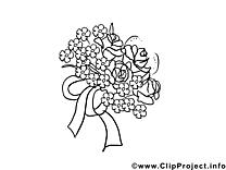 Bouquet dessin à colorier image gratuite
