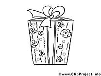 Cadeau image à colorier clipart