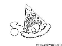 Chapeau de fête image à imprimer gratuite