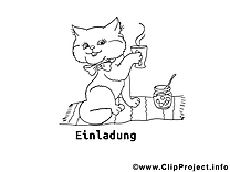 Chat dessin gratuit à imprimer
