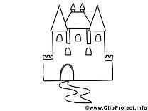 Château dessin à imprimer clip arts