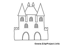 Château dessin à imprimer clip arts gratuits