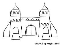 Château dessin à imprimer images