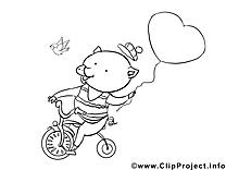 Cochon dessins à colorier clipart gratuit