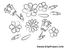 Coloriage floraison images gratuites