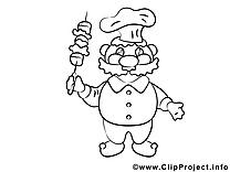 Cuisinier image à imprimer clipart