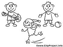 Enfants coloriage clip art gratuit