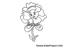 Fleur coloriage images gratuites