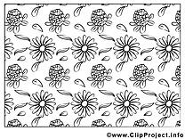 Fleurs coloriage image gratuite