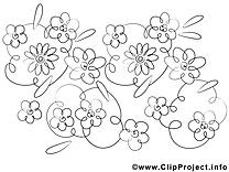 Fleurs image à imprimer clipart