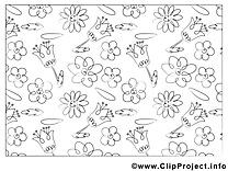 Floraison coloriage images gratuites
