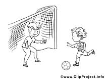 Football image à imprimer clipart