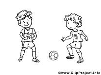 Footballeurs illustration à colorier clipart