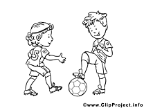 Footballeurs image à colorier clipart