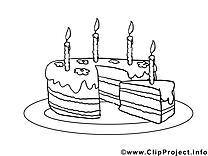 Gâteau coloriage clip art gratuit
