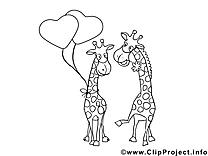 Girafes clip art à imprimer images gratuites